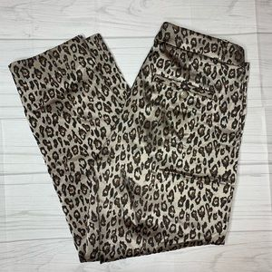 Banana Republic Leopard Print Avery Ankle Pant